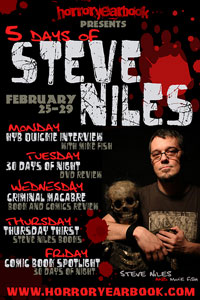 Five Days of Steve Niles at HorrorYearbook.com