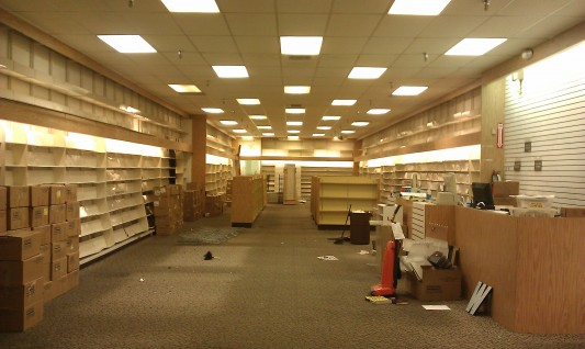 My Borders Bookstore, now closed.