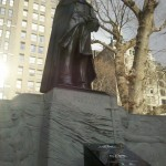 Admiral David Glasgow Farragut Statue dons The Cape. Madison Square Park, New York