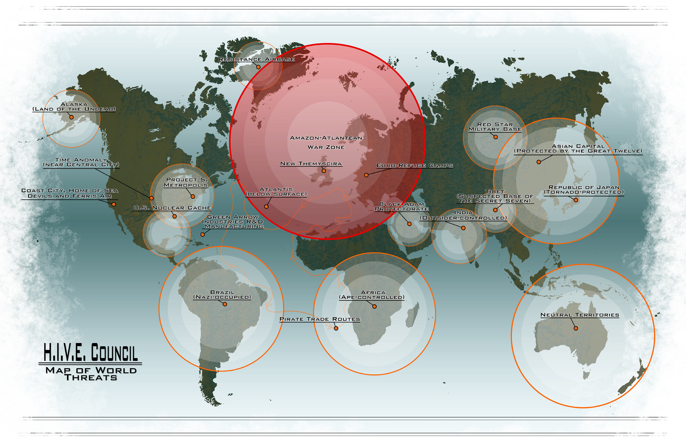 DC\'s Flashpoint World Map Sparks Controversy