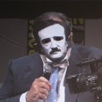 SDCC 2011: Twixt panel: Francis Ford Coppola wearing his Edgar Allan Poe mask