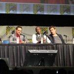 SDCC 2012: Marvels Iron Man 3 panel: Marvel Studios President of Production Kevin Feige, Robert Downey, Jr., Don Cheadle, director Shane Black, Jon Favreau