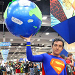 SDCC 2012: Cosplay Round-Up: Superman holds up the World