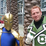 Doctor Fate and Green Lantern cosplay