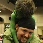 SDCC 2013: Cosplay: A very tired baby HULK