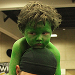 SDCC 2013: Cosplay: The very tired baby HULK has awoke