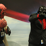 SDCC 2013: Cosplay: Dancing Darth Vader makes good on his offer with Hellboy