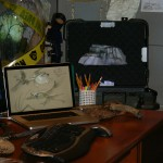 D23 Expo 2013: Office from Avatar Land with Concept Art and Briefcase containing Unobtainium