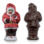 Chocolate Zombie Santa wrapped and unwrapped