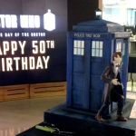 Doctor Who 50th Anniversary TARDIS Cake by Pink Cake Box