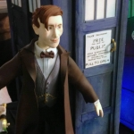 Doctor Who 50th Anniversary TARDIS Cake Eleventh Doctor close-up by Pink Cake Box