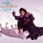 Game of Thrones by Disney -- Jon Snow and Ghost