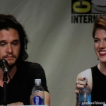 Game of Thrones panel SDCC 2014 Kit Harington and Rose Leslie