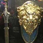 SDCC 2014 Legendary booth Warcraft Dragon Sword and Lion Shield movie props