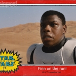 Star Wars: The Force Awakens Finn trading card