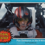 Star Wars: The Force Awakens Poe Dameron trading card