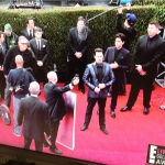 Entourage Cast Filming On The Golden Globes Red Carpet 2015