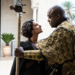 Game Of Thrones Season 5 Indira Varma as Ellaria Sand and Deobia Opaeri as Areo Hotah