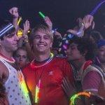 I Am Michael James Franco and Zachary Quinto glow sticks
