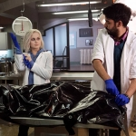 The CW iZombie Rose McIver as Olivia Liv Moore and Rahul Kohli as Dr. Ravi Chakrabarti