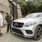 Jurassic World Mercedes-Benz GLE Coupe producer Frank Marshall and director Colin Trevorrow