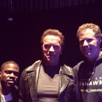 Kevin Hart Arnold Schwarzenegger as Terminator Will Ferrell Super Bowl Tonight Show (2015)
