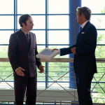 Better Call Saul Jimmy McGill (Bob Odenkirk) and Howard Hamlin (Patrick Fabian) in Episode 101