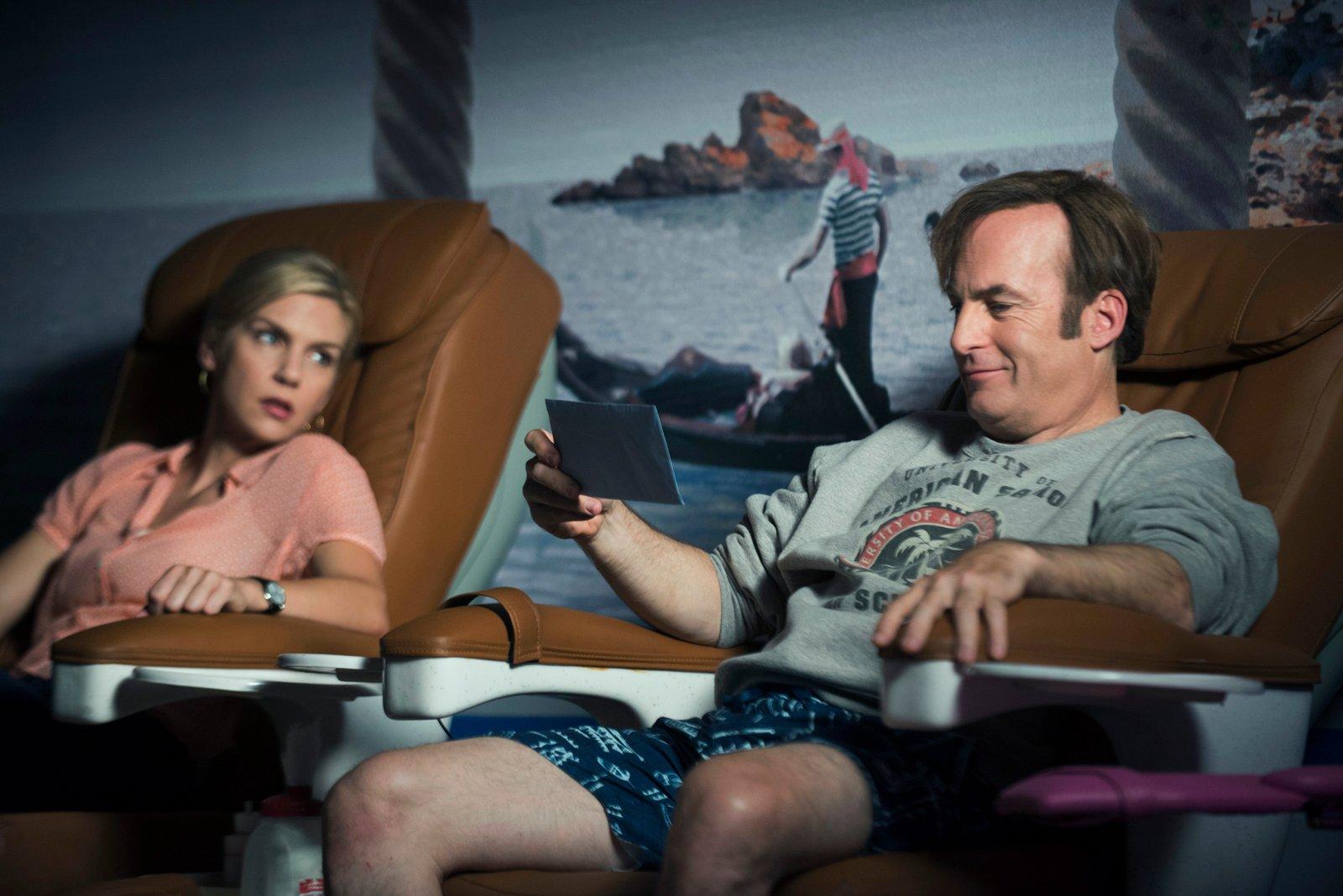 Better Call Saul Episode 1.4 Kimberly Wexler (Rhea Seehorn) Jimmy McGill (Bob Odenkirk)