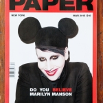 Marilyn Manson Paper cover; photo by Terry Richardson