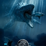 Jurassic World shark poster