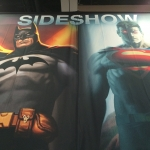 SDCC 2015 Preview Night Sideshow Booth Batman Superman
