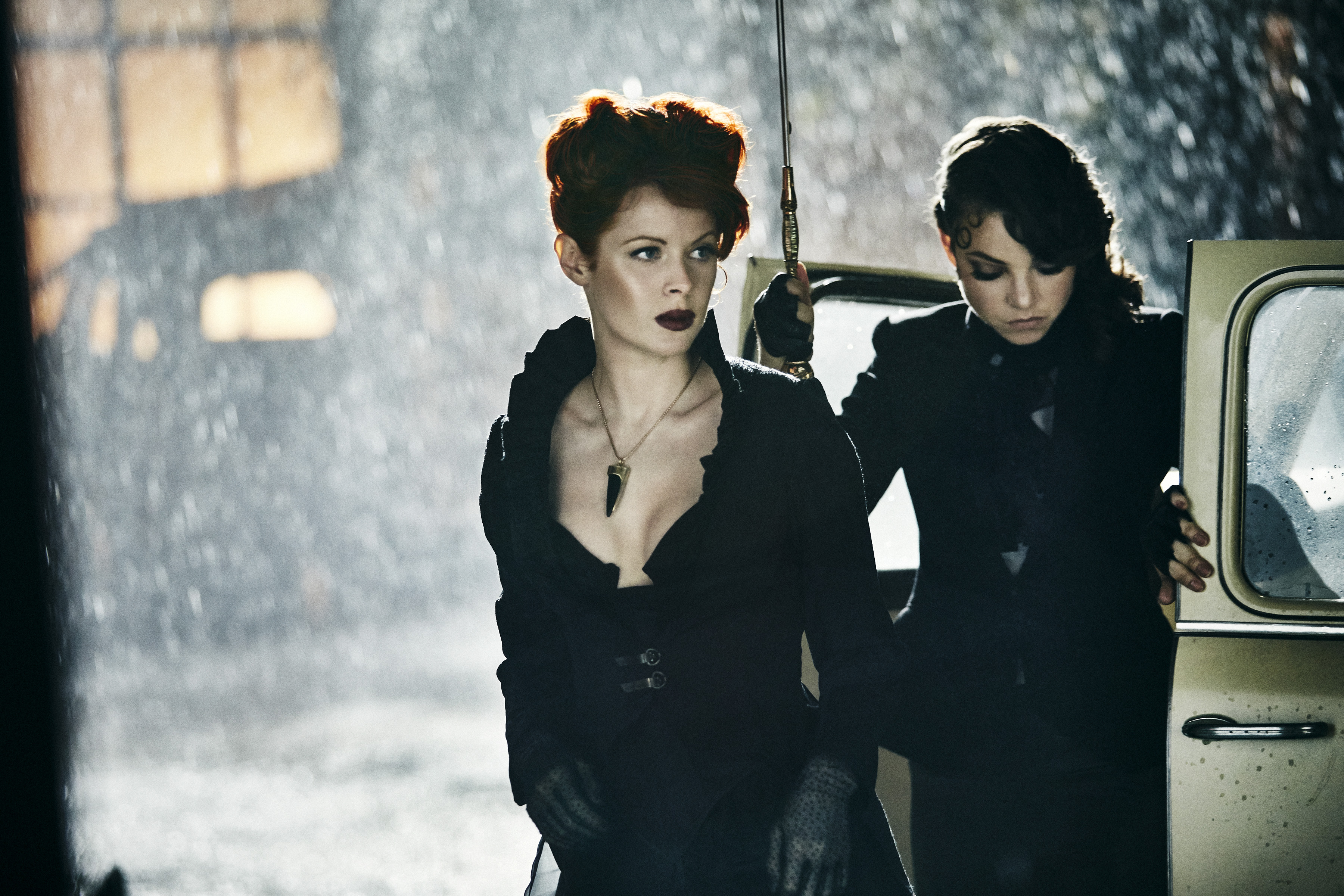 Emily Beecham as The Widow and Ruby Lou Smith as Valentine - Into the Badlands