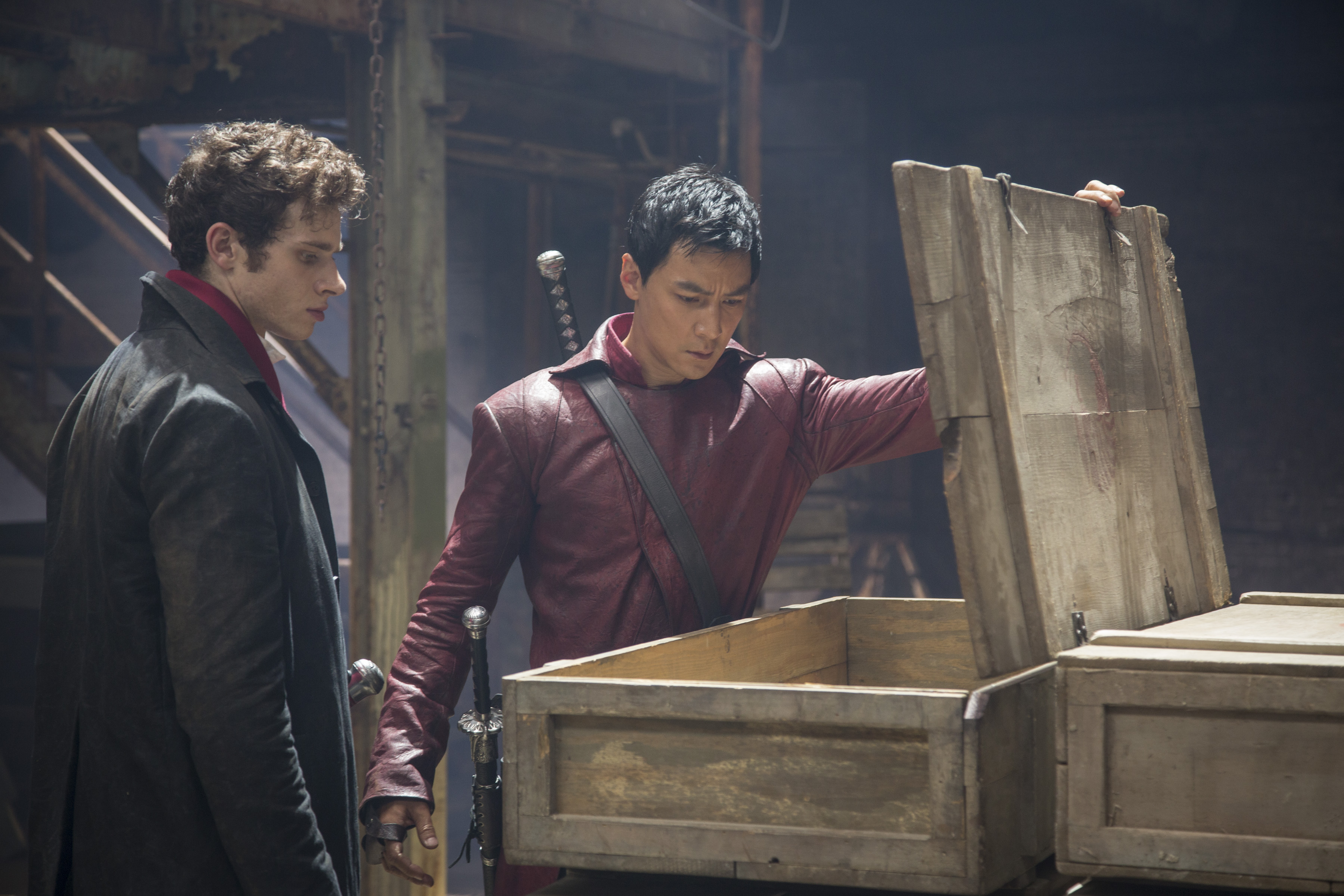 Oliver Stark as Ryder and Daniel Wu as Sunny - Into the Badlands