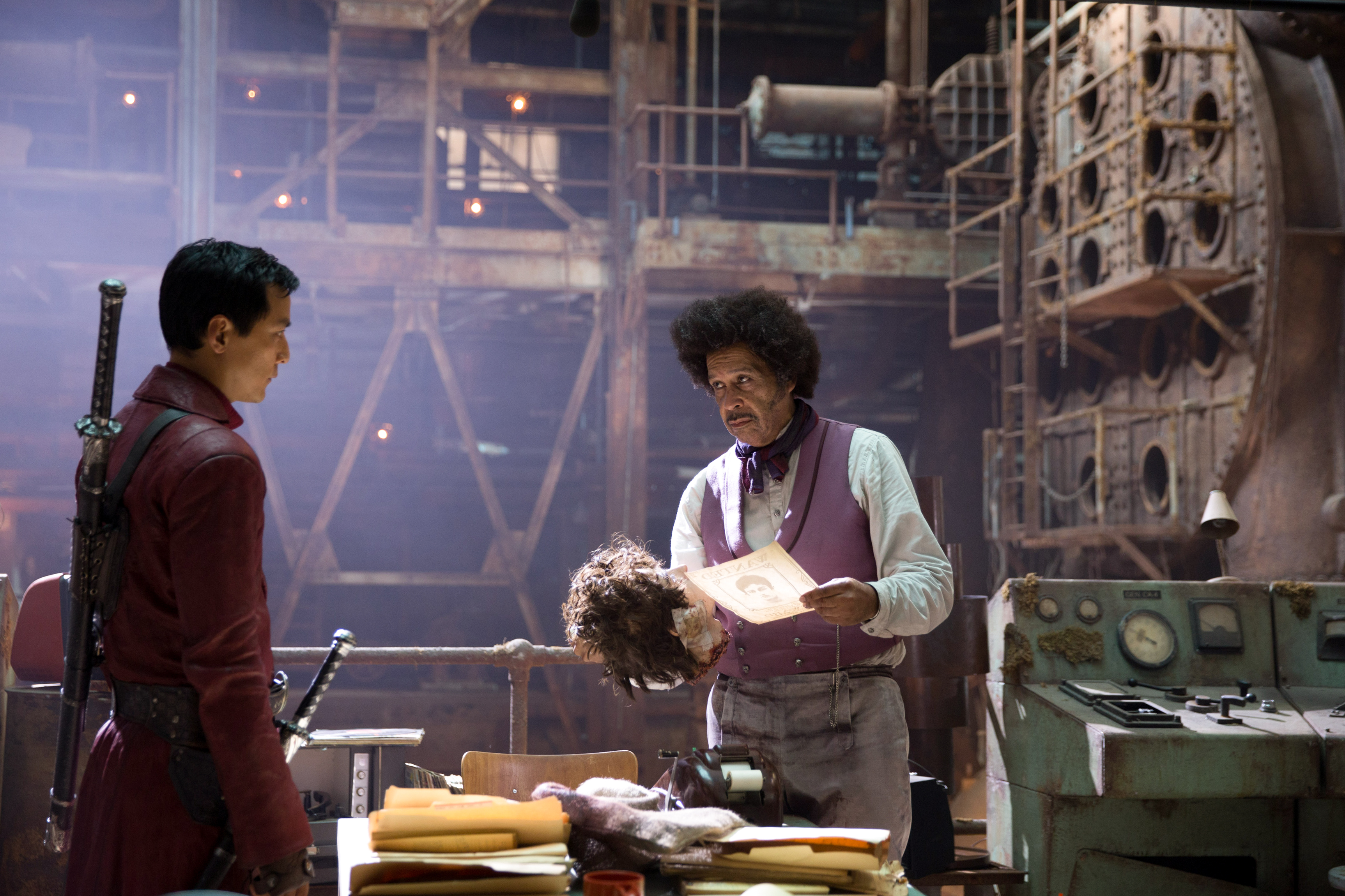 Daniel Wu as Sunny and Lance Nichols as The River King - Into the Badlands
