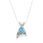 Star Trek Trillion Necklace Blue Topaz