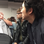 Charlie Saxton and Steven Yeun, Trollhunter roundtable, NYCC 2016-03