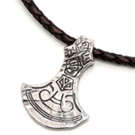 RockLove jewelry web axe blade necklace