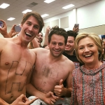 Undecided: The Movie Jason Selvig, Davram Stiefler with Hillary Clinton