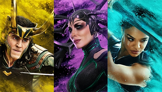 Thor Ragnarok Posters Have Some Colorful Characters