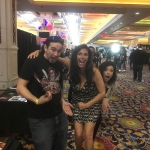 Felissa Rose with Dr. Zaius