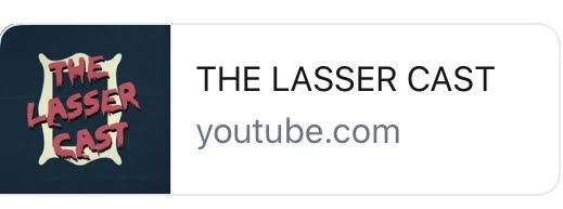 The Lasser Cast YouTube image