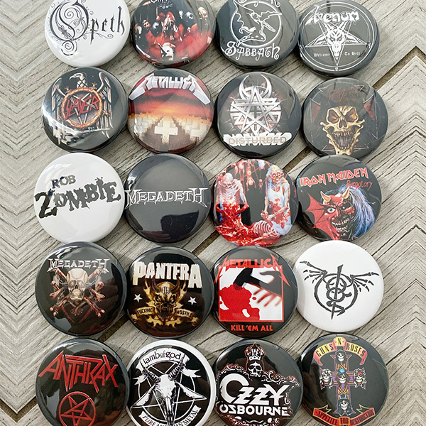 Random Heavy Metal Pins