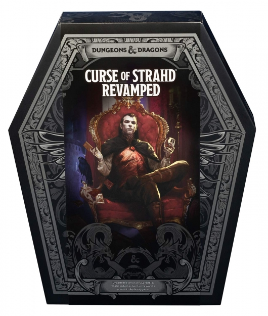 Dungeons and Dragons Curse of Strahd coffin box set